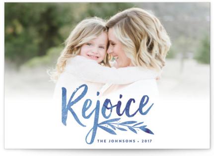 Vivid Rejoice Christmas Photo Cards