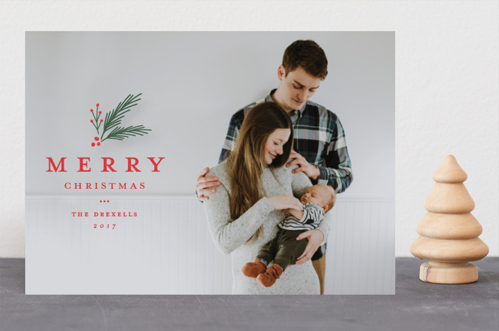 """Classic foliage overlay"" - Christmas Photo Cards in Christmas by Stacey Meacham."
