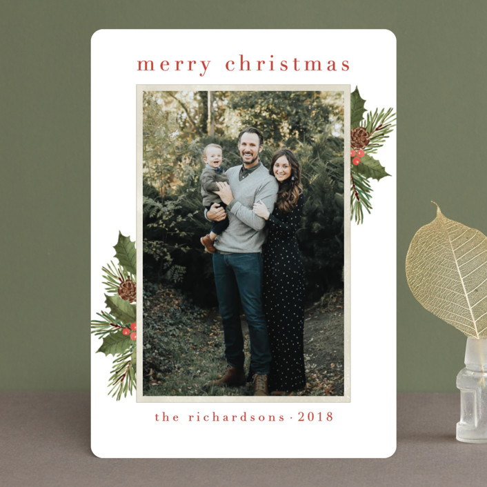 """""""Holly Sprigs"""" - Vintage Christmas Photo Cards in Snow by Chris Griffith."""