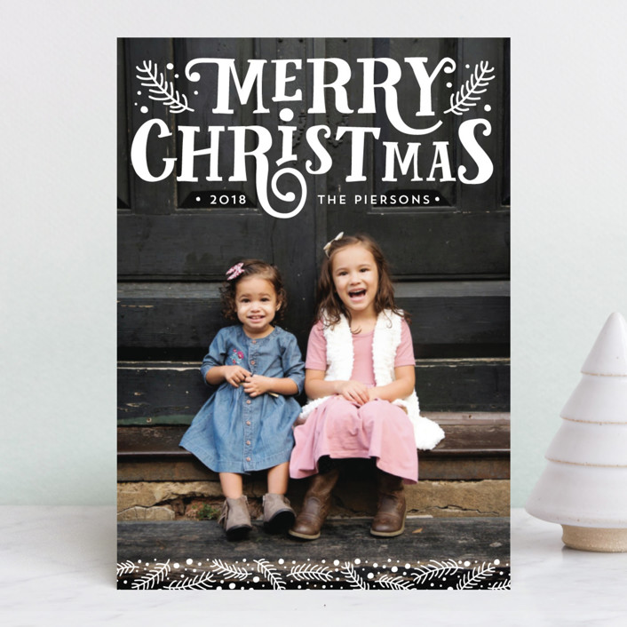 """""""Fairytale"""" - Vintage Christmas Photo Cards in Cotton by Erin Deegan."""