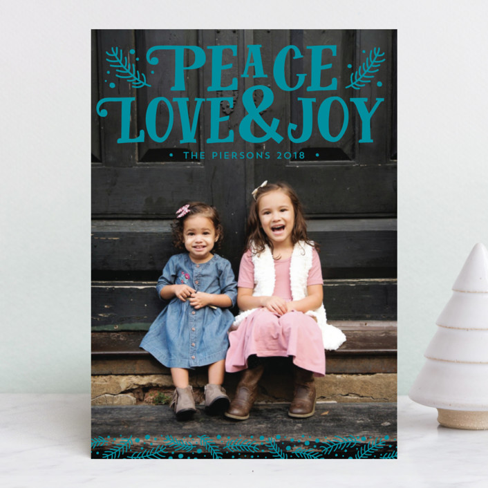 """Fairytale"" - Christmas Photo Cards in Cotton by Erin Deegan."