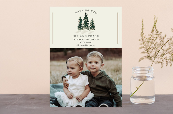 """""""Holiday Spruce"""" - Christmas Photo Cards in Pine by Chris Griffith."""