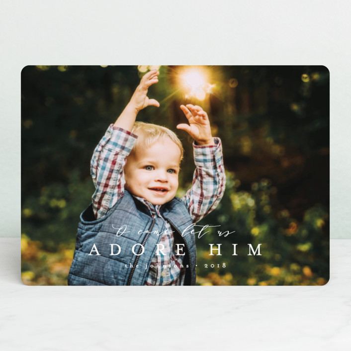 """""""O come let us"""" - Christmas Photo Cards in Snow by peony papeterie."""