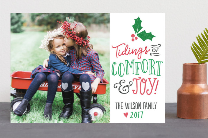 """Tidings"" - Christmas Photo Cards in Fern by Jessie Steury."