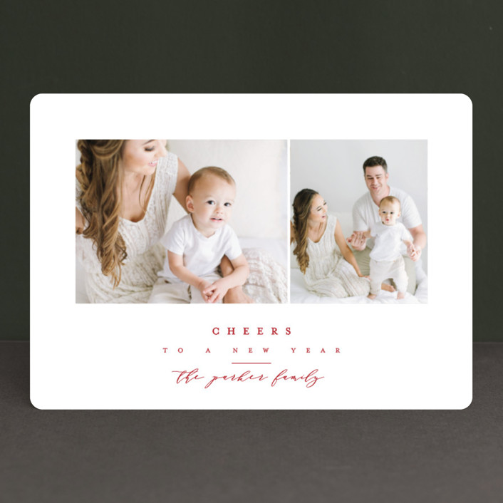 """""""The Highest"""" - Christmas Photo Cards in Crimson by peony papeterie."""