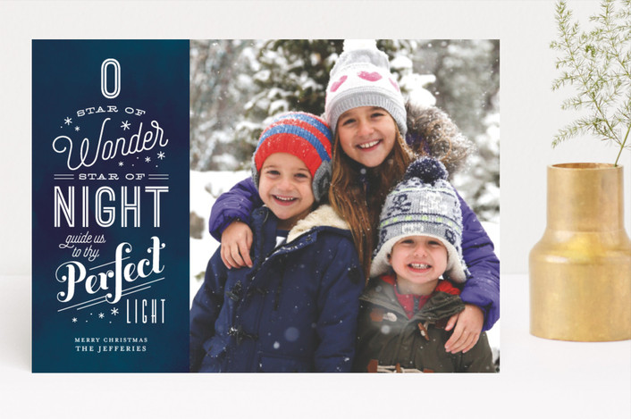 """Perfect Light"" - Christmas Photo Cards in Midnight by Eric Clegg."