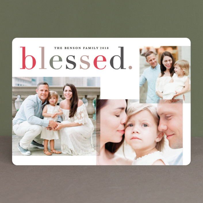 """""""Colorfully blessed"""" - Christmas Photo Cards in Amaze by Creo Study."""