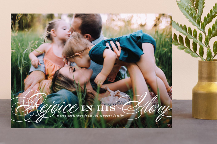 """In His Glory"" - Christmas Photo Cards in Snowball by Jennifer Postorino."