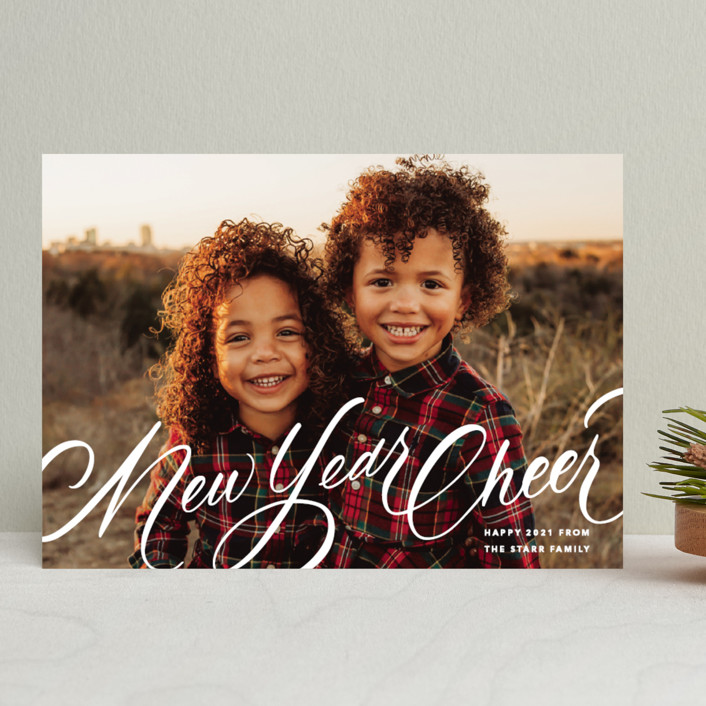 """""""Script Christmas"""" - Christmas Photo Cards in Winter by Up Up Creative."""