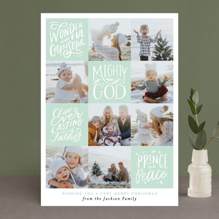 """""""His Name will be called Squares"""" - Christmas Photo Cards in Mint by Alethea and Ruth."""
