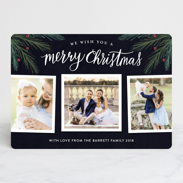 """His Light"" - Christmas Photo Cards in Noir by Kelly Nasuta."