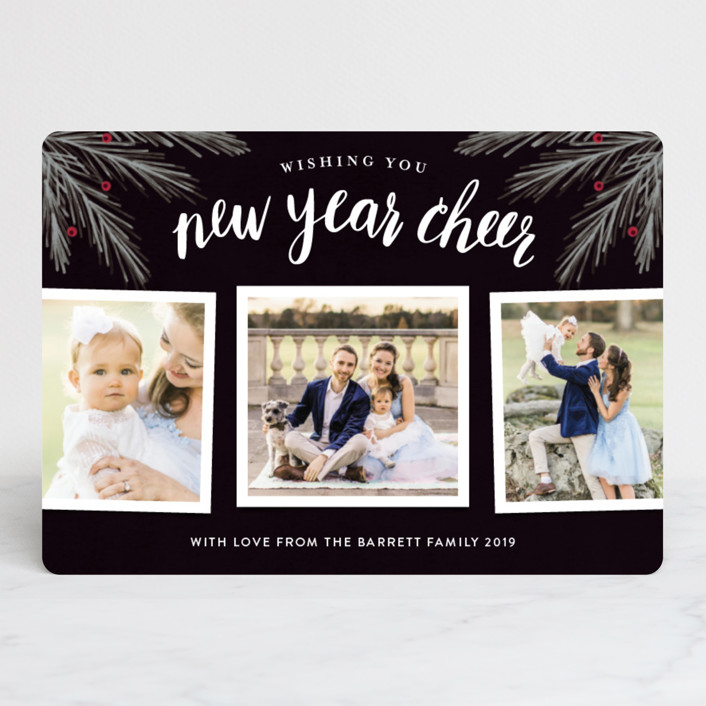 """""""His Light"""" - Christmas Photo Cards in Navy by Kelly Nasuta."""