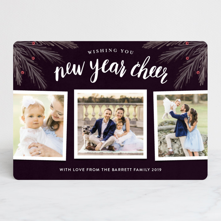 """His Light"" - Christmas Photo Cards in Navy by Kelly Nasuta."