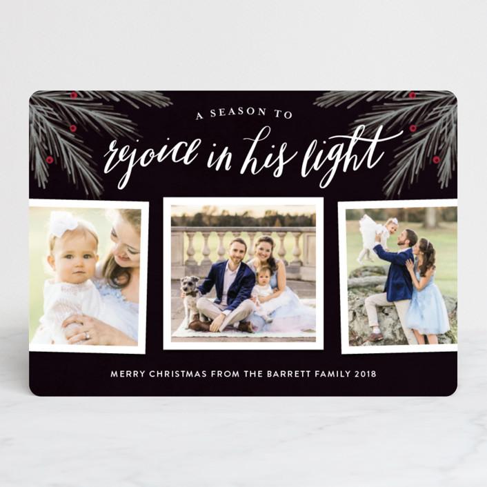 """His Light"" - Christmas Photo Cards in Noir by Kelly Nasuta."