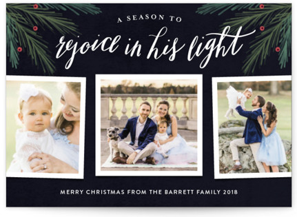 His Light Christmas Photo Cards