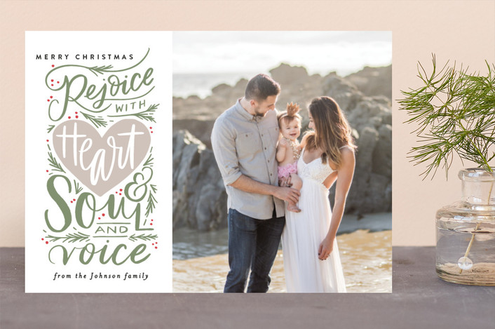"""""""Rejoice with Heart and Soul and Voice"""" - Christmas Photo Cards in Forest by Alethea and Ruth."""