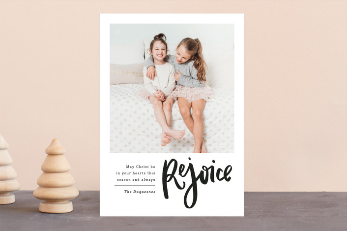 """Swiftly"" - Modern Christmas Photo Cards in Ink by Up Up Creative."