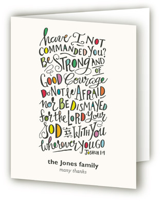 Wherever You Go Baptism and Christening Thank You Cards