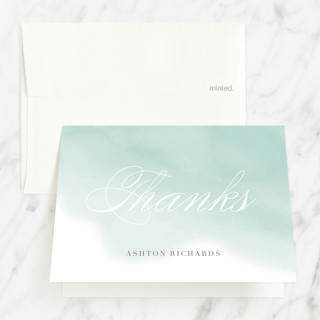 Water Wash Baptism and Christening Thank You Cards