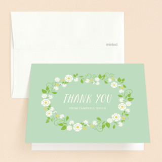 Fleurs Fraiche Baptism and Christening Thank You Cards