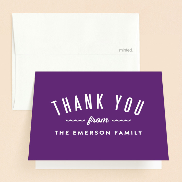 """""""Waves Overlay"""" - Preppy Baptism And Christening Thank You Cards in Wave by Monica Tuazon."""
