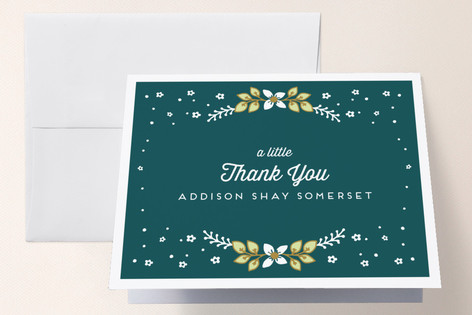 Yeweled Baptism and Christening Thank You Cards