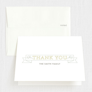 Pure & Sweet Baptism and Christening Thank You Cards