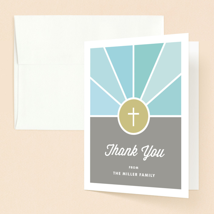 """""""Window"""" - Baptism And Christening Thank You Cards in Sky by Kim Dietrich Elam."""
