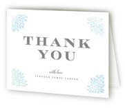 Water drops Baptism and Christening Thank You Cards