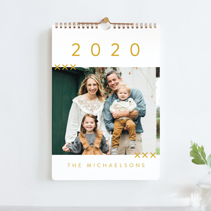 """""""So Simple"""" - Modern, Bold typographic Photo Calendars in Evergreen by Amy Payne."""