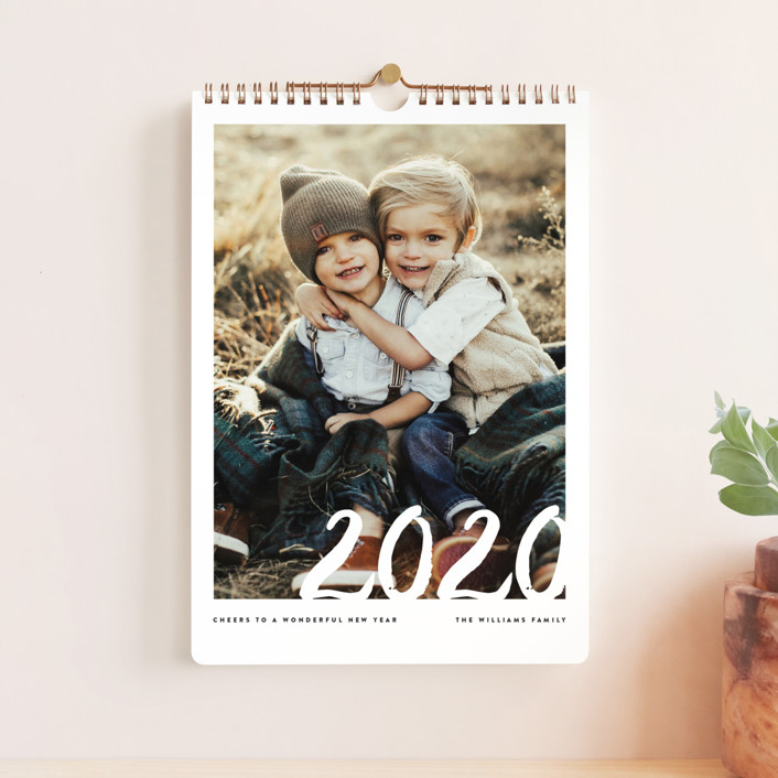 """Sincere Year Standard"" - Modern Photo Calendars in Pearl by Jennifer Lew."