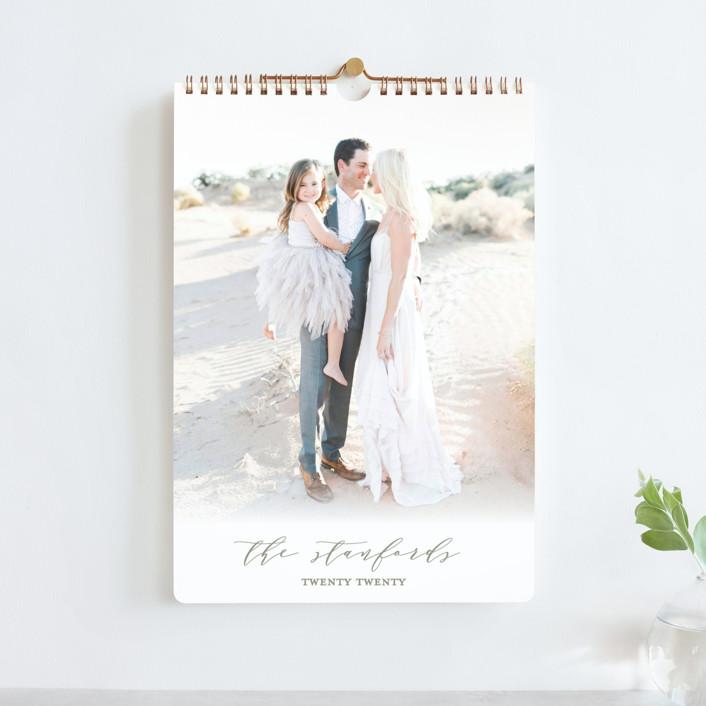 """Elegance"" - Simple, Minimalist Photo Calendars in Travertine by Kaydi Bishop."