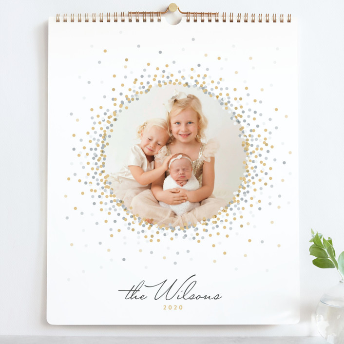 """""""Silver & Gold Grand"""" - Simple Photo Calendars in Golden by Jessie Steury."""