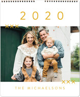 This is a yellow photo calendar by Amy Payne called So Simple Grand printing on premium calendar paper in grand.
