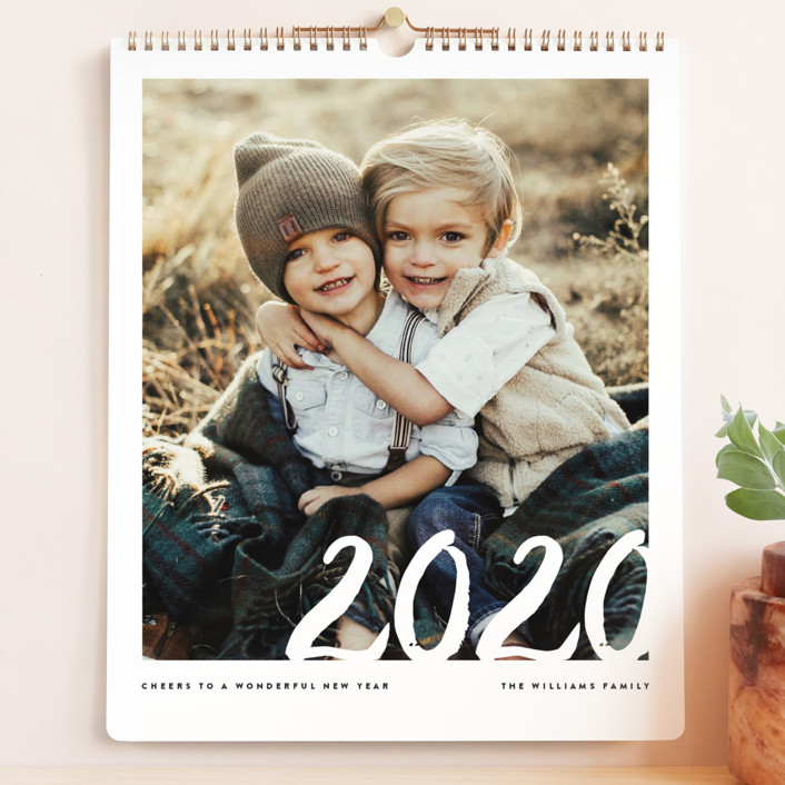 """Sincere Year Grand"" - Modern Photo Calendars in Pearl by Jennifer Lew."
