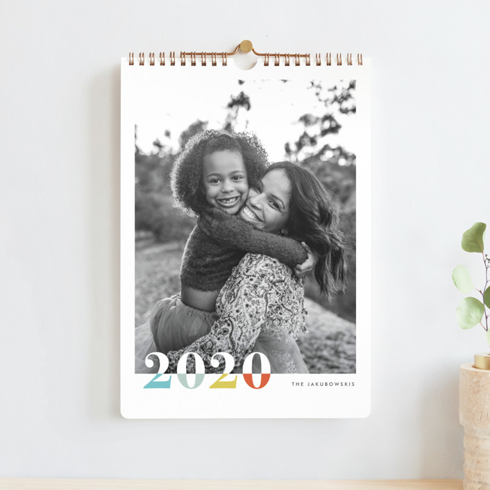 """""""Bountiful Joy Standard"""" - Bold typographic Photo Calendars in Sunshine by Snow and Ivy."""