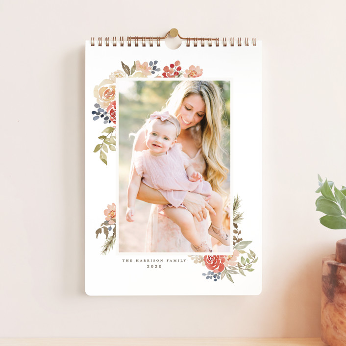 """Bright Garden Standard"" - Photo Calendars in Cranberry by Wildfield Paper Co.."
