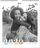 This is a colorful photo calendar by Snow and Ivy called Bountiful Joy Grand printing on premium calendar paper in grand.