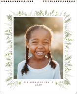This is a white photo calendar by Susan Moyal called Bed of Greens Grand printing on premium calendar paper in grand.