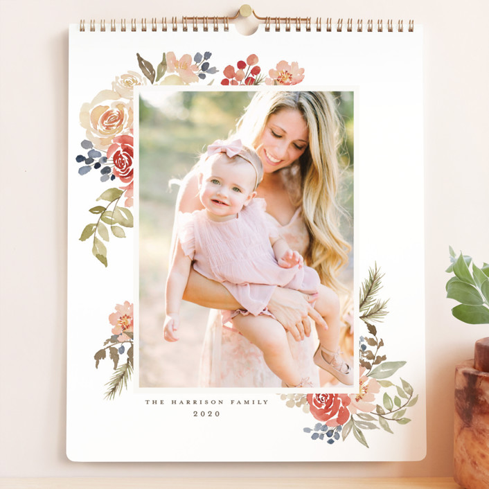 """Bright Garden Grand"" - Photo Calendars in Cranberry by Wildfield Paper Co.."