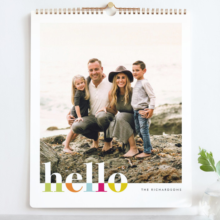 """""""Bountiful Hello Grand"""" - Bold typographic Photo Calendars in Fete by Snow and Ivy."""