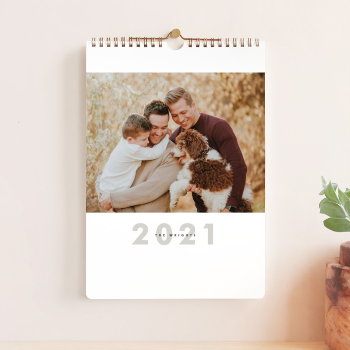 """""""Big Month Standard"""" - Bold typographic, Modern Photo Calendars in Ash by Alston Wise."""