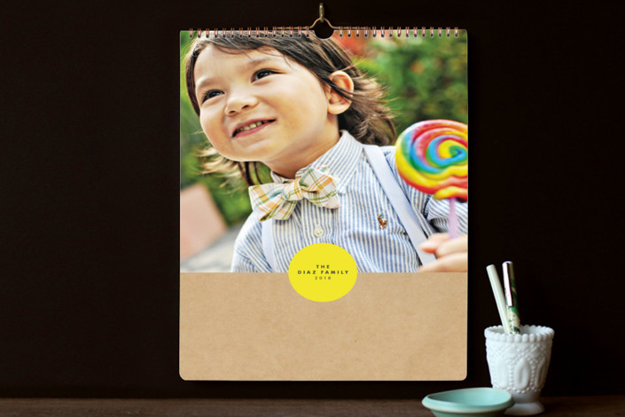 """""""Book Shop Standard"""" - Rustic/Craft, Simple Photo Calendars in Lemon by Alston Wise."""