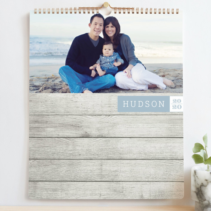 """""""So Happy Together Grand"""" - Modern, Simple Photo Calendars in Sky Blue by Malena Southworth."""
