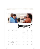 This is a white photo calendar by Leah Ragain called Simple Statement printing on premium calendar paper in standard.
