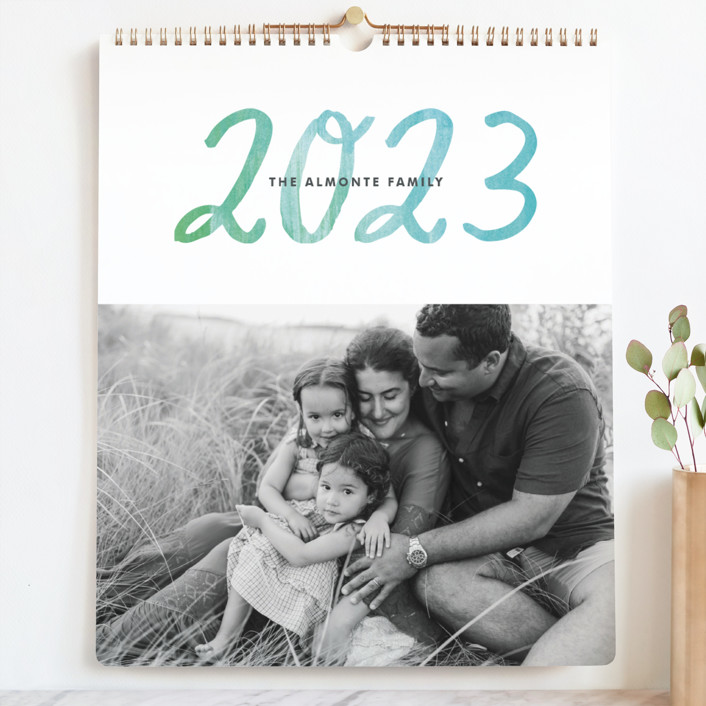 """""""Painted Script"""" - Photo Calendars in Teal by Alethea and Ruth."""