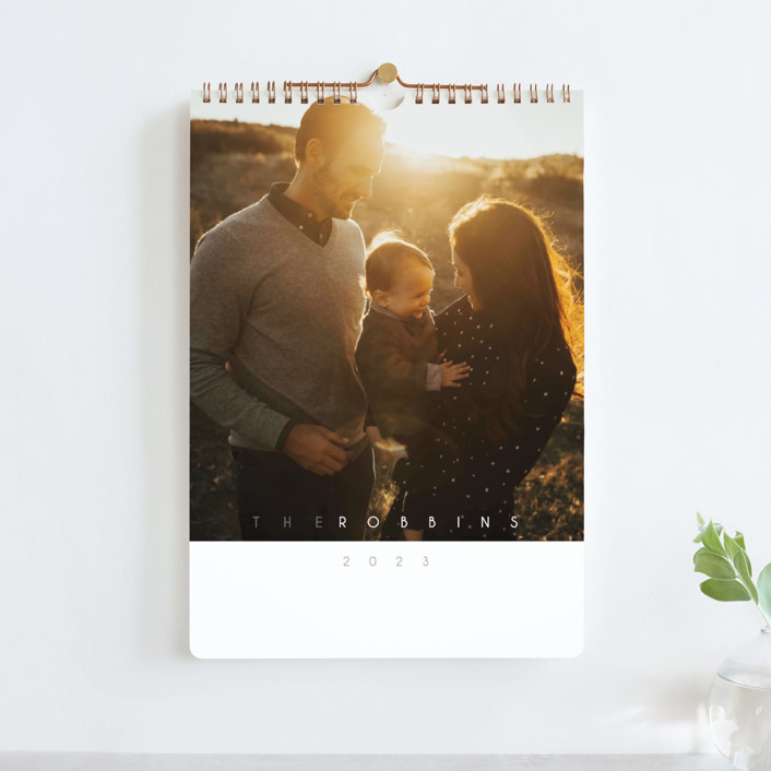 """""""Monthly Focus"""" - Modern Photo Calendars in Slate by Kaydi Bishop."""