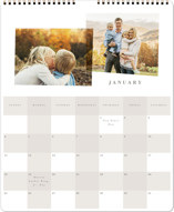 This is a grey photo calendar by Angela Garrick called Checked printing on premium calendar paper in grand.