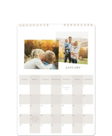 This is a grey photo calendar by Angela Garrick called Checked printing on premium calendar paper in standard.