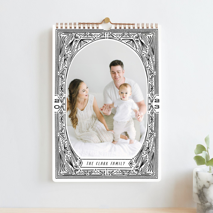 """""""Ink Detailing Frame"""" - Whimsical & Funny Photo Calendars in Midnight by Shiny Penny Studio."""